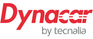 Logotipo de DYNACAR: advanced research full electric vehicle